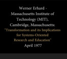 Werner Erhard at MIT – 1977